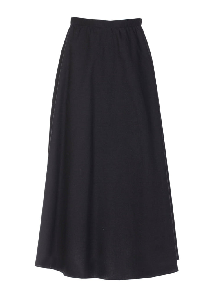 LUNA COTTON SKIRT - BLACK