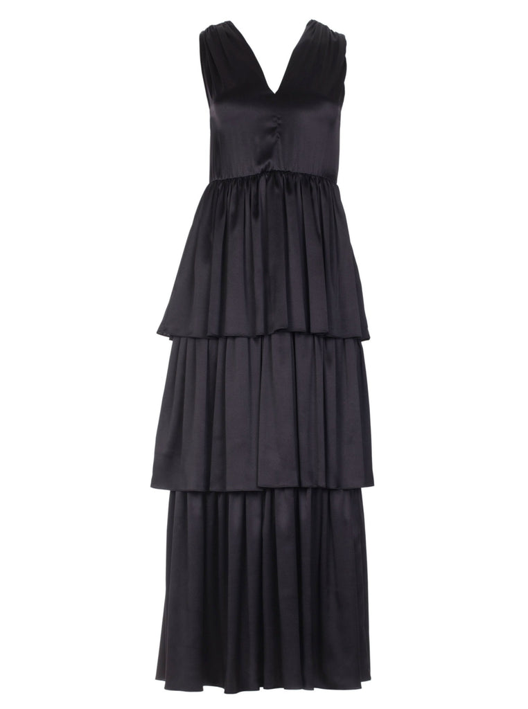 ELLA SILK DRESS - BLACK