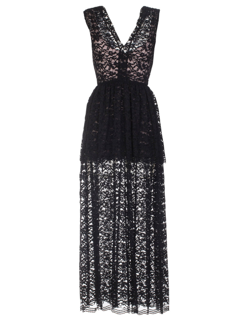 ELLA LACE DRESS - BLACK
