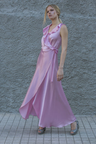 DORIS SILK DRESS - PINK