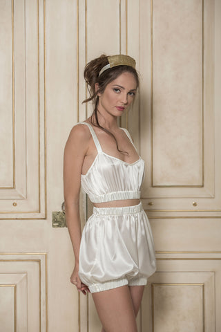 SUNDAYS ARE FOR EVER - SILK SET IN IVORY