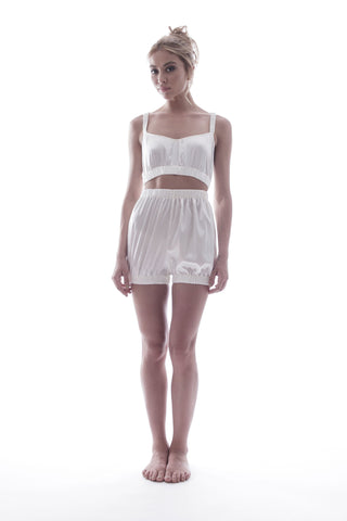 SUNDAYS ARE FOR EVER - SILK SLEEPWEAR SET IN IVORY