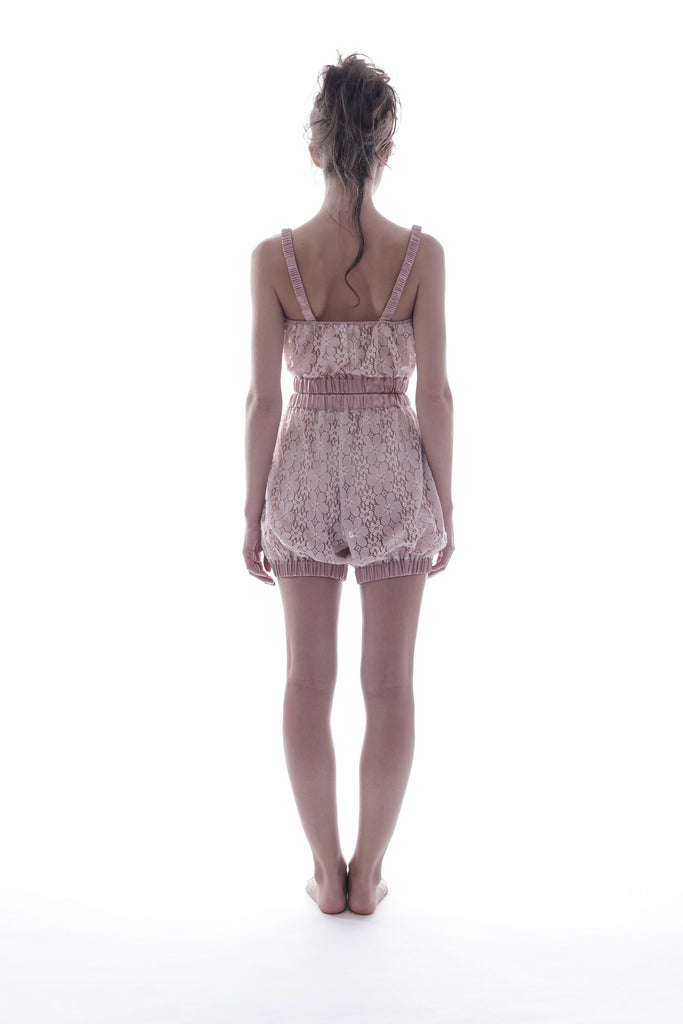 roses-are-red - SUNDAYS ARE FOR EVER - SILK & LACE SET IN PINK - NIGHTWEAR