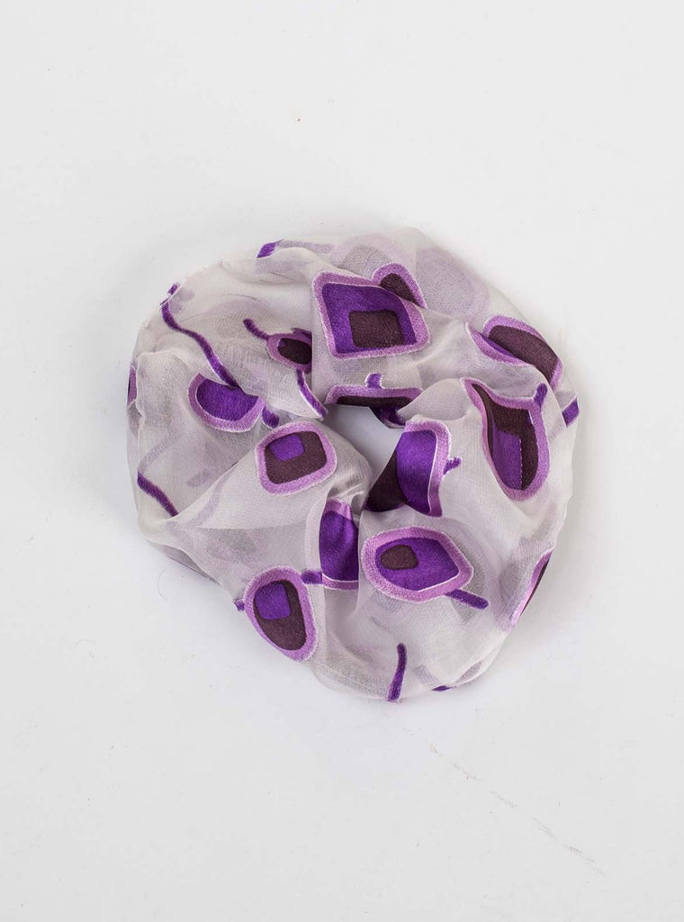 SILK SCRUNCHIE - PURPLE DEVORE