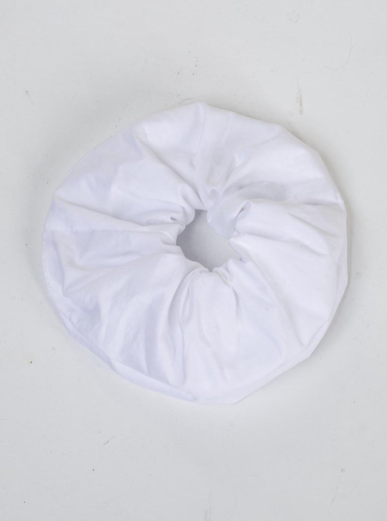 COTTON SCRUNCHIE - WHITE
