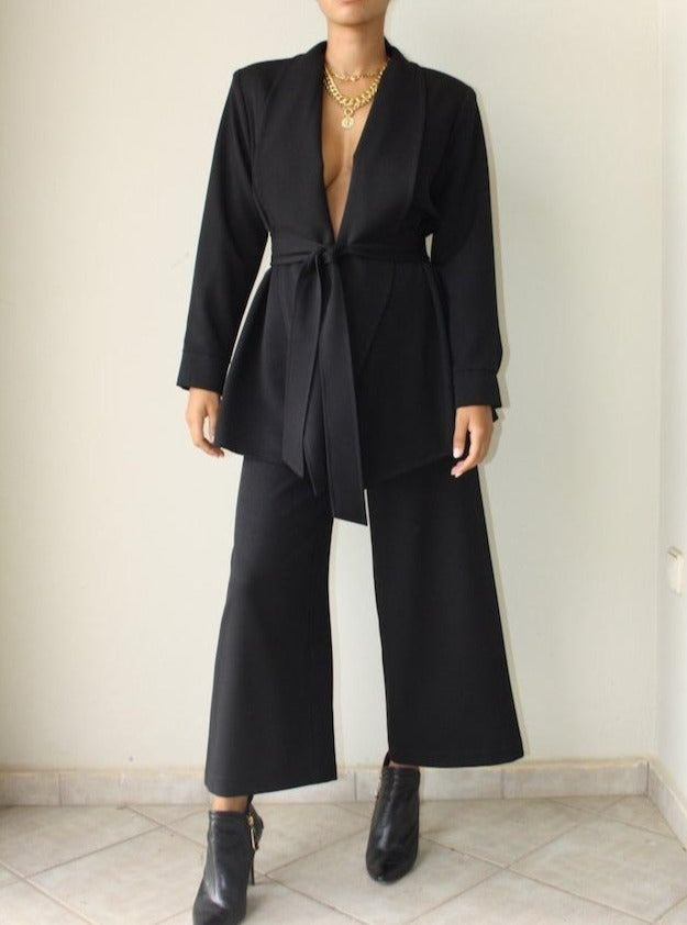 THE CONFIDENCE SUIT - PANTS IN BLACK