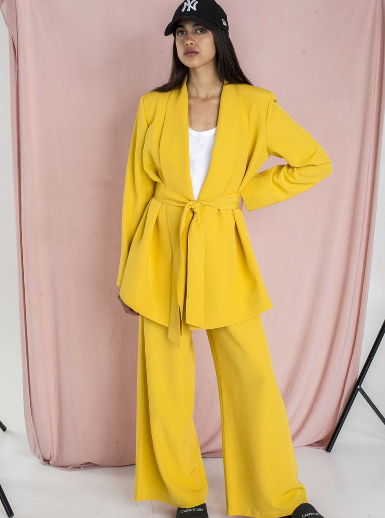 THE CONFIDENCE SUIT - MUSTARD BLAZER