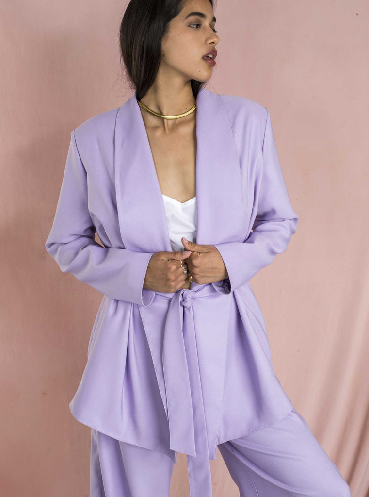 THE CONFIDENCE SUIT - LILAC BLAZER