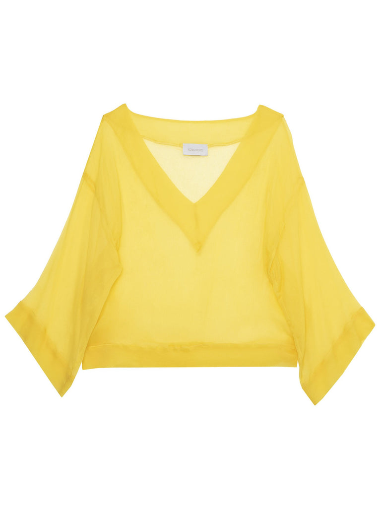 NOEMI SILK TOP - YELLOW