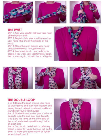 Scarf Scarves Tying Tips