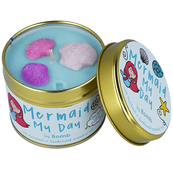 Mermaid My Day Tin Candle