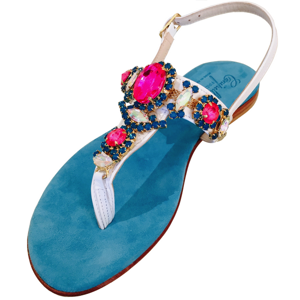BLUE WHITE PINK SANDAL