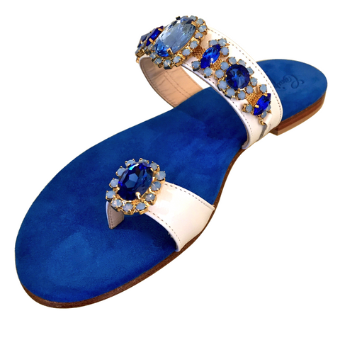 BLUE AND WHITE SANDAL