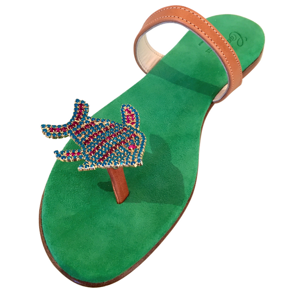 GREEN FISH SANDAL