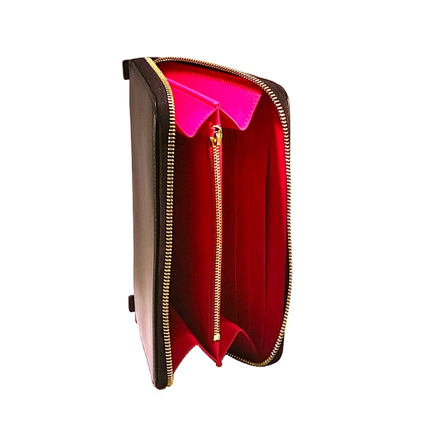 ZIP AROUND WALLET-CLUTCH