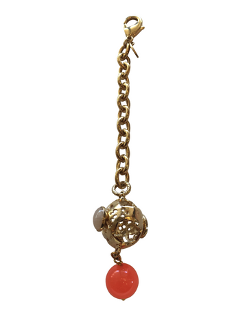 HANDBAG CHARM WITH SEMIPRECIOUS STONES