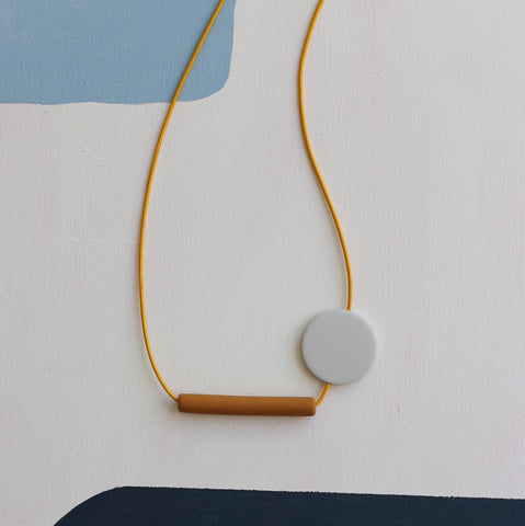 Two Shapes Circle Necklace - No.1