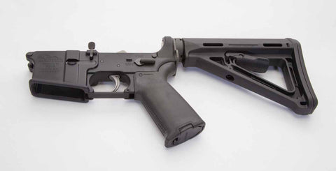 AR15 Complete Lower 7075-T6 MULTI CAL with MAGPUL
