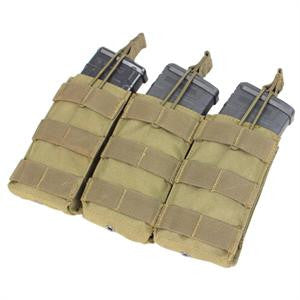 Condor Outdoor Triple Open-Top M4 Mag Pouch - Color Options