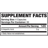 AI Sports Nutrition D-Aspartic Acid Capsules, 120 Count