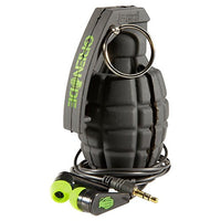 GR GRENADE EAR BUDS BLACK WITH GREEN