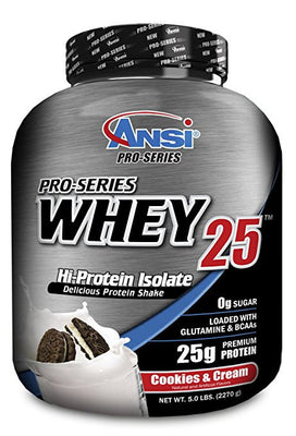 ANSI - Pro-Series Whey Protein Isolate 25, 5lb (2270g) (Cookie)