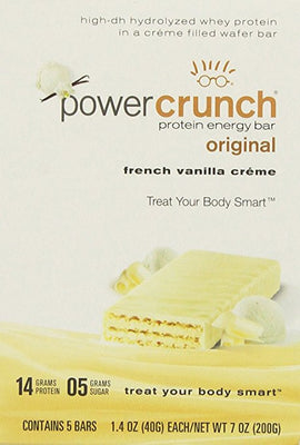 PC POWER CRUNCH BAR 5pk VANILLA CRÈME