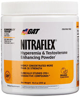 GAT Clinically Tested Nitraflex, Testosterone Enhancing Pre Workout, Orange, 300 Gram