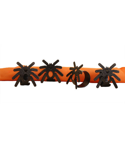 Spider Napkin Rings Set of Four