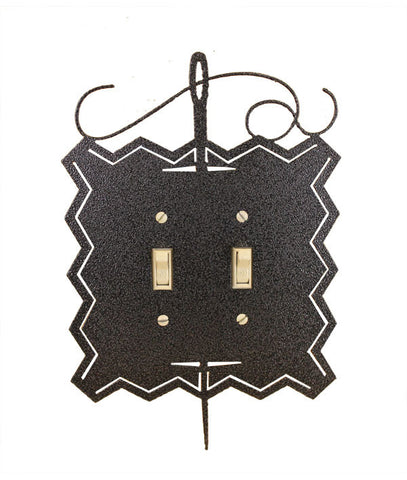 Needle and Thread Double Switch Cover