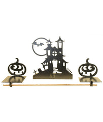 Haunted House Mantel Decor