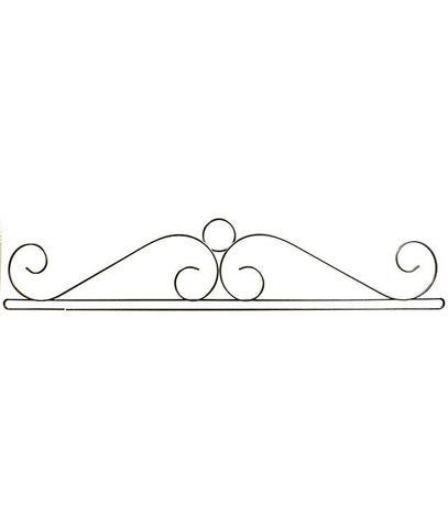 36 inch Wire Scroll Split Btm