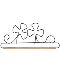 Shamrock with dowel Gray