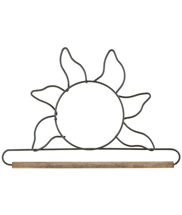 Sun with dowel, Gray