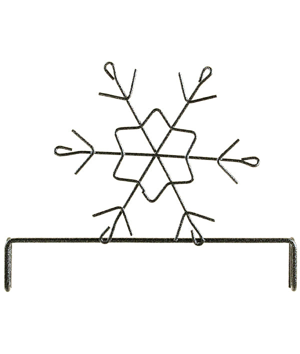 6 inch Snowflake Header Charcoal