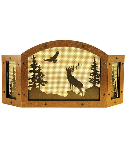 22 inches long by 10 inches tall Elk Candle Screen