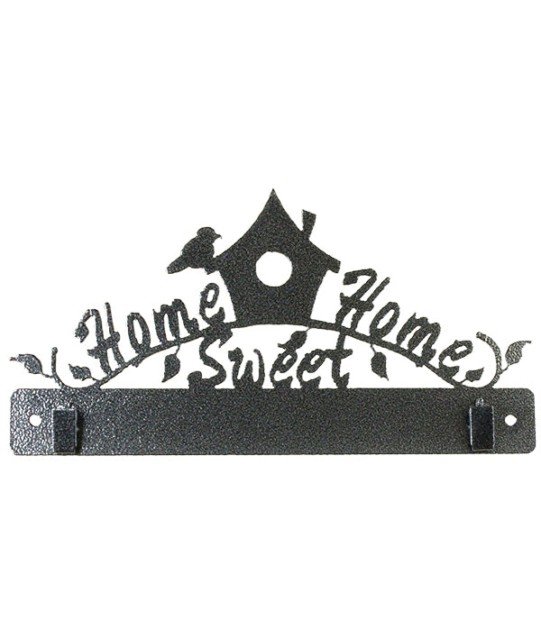 10 Inch Home Sweet Home WITH CLIPS Charcoal