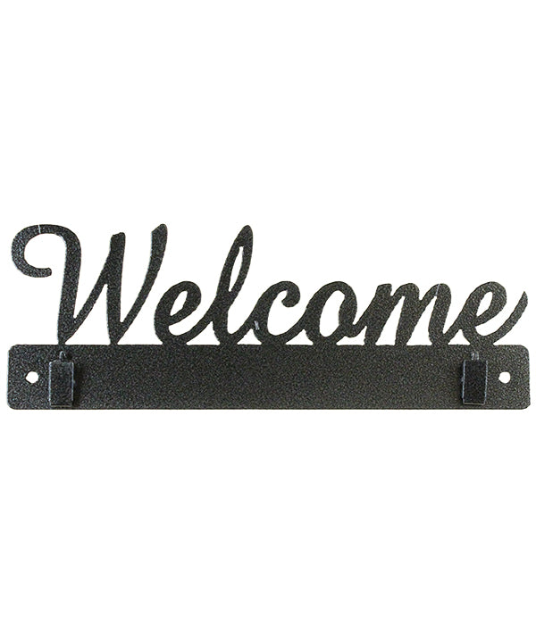10 Inch Welcome WITH CLIPS, Charcoal