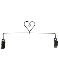 "Heart Clip Holder, 6"", 8"" or 12"" Charcoal"
