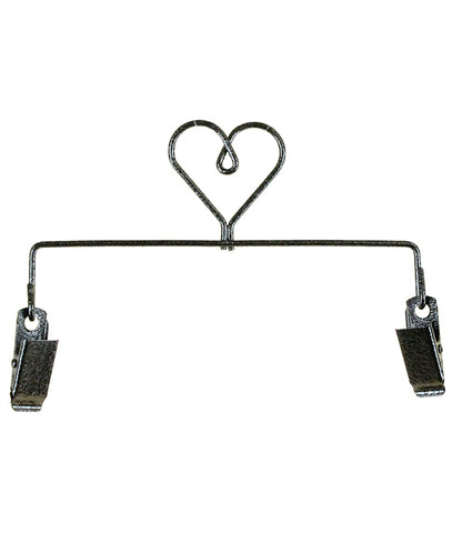 Heart Clip Holder Charcoal