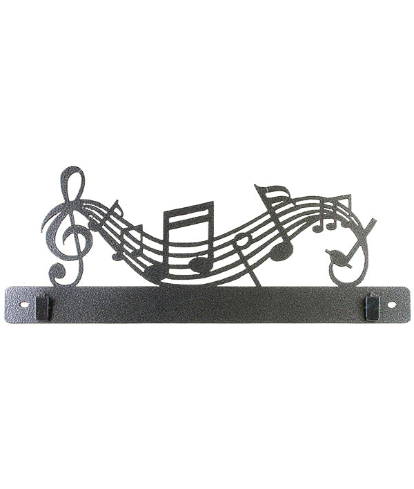 14 Inch Music Notes With Clips, Charcoal