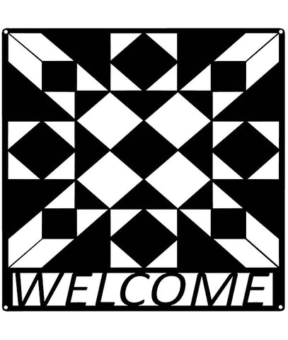 24 inch x 24 inch Welcome Barn Quilt
