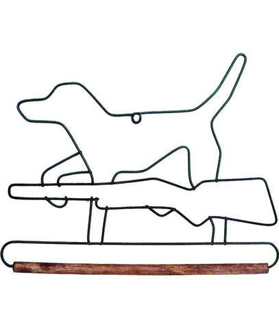 Hunting Dog With Dowel