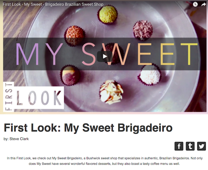 Brigadeiro, Brazilian Sweet Shop - My Sweet by First Look