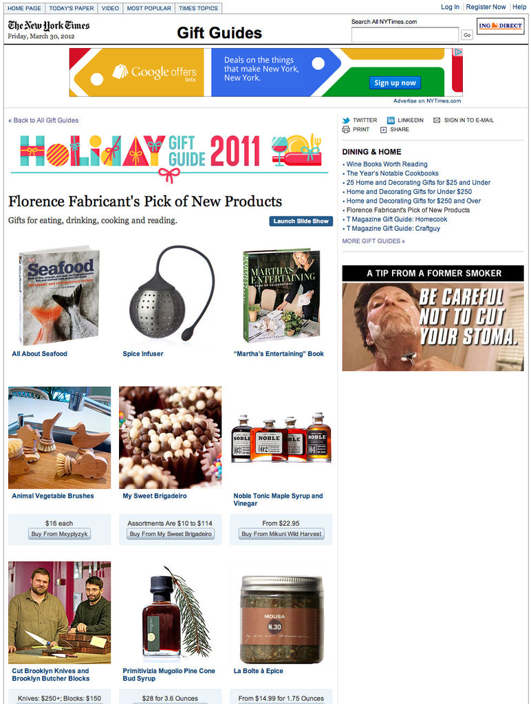 Holiday Gift Guide 2011 New York Times