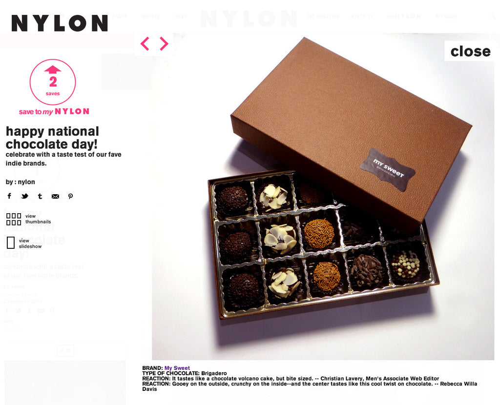 Happy National Chocolate Day! by Nylon