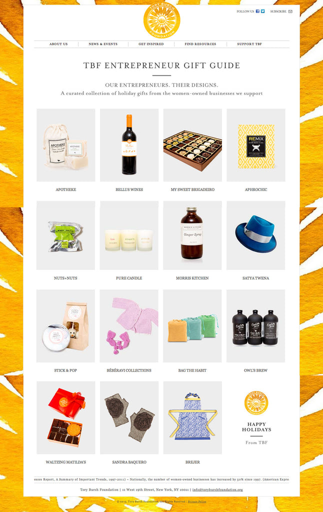 TBF Entrepreneur Gift Guide - Tory Burch