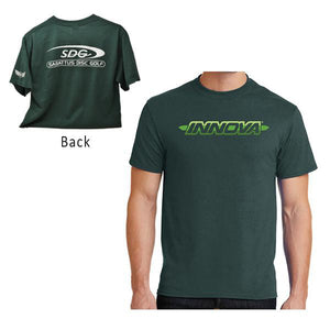 innova-striped-bar-logo-short-sleeve-w-sdg-logo-discmania-disc-golf-shirt Medium Dark Green