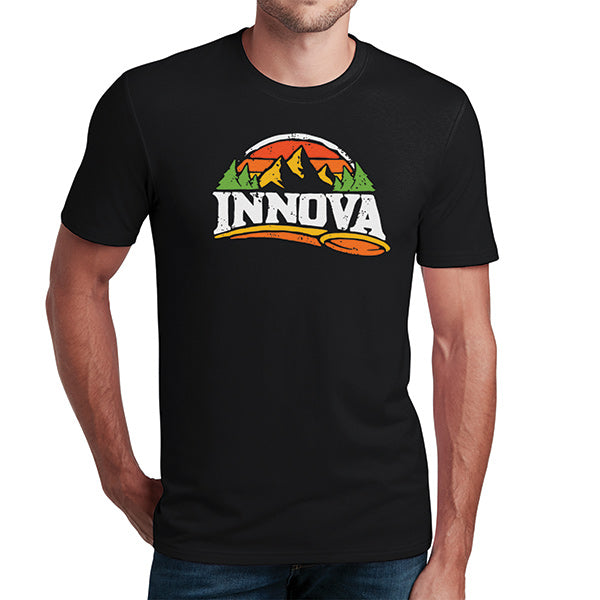 innova-mountain-flex-short-sleeve-tee-disc-golf-apparel Small Black
