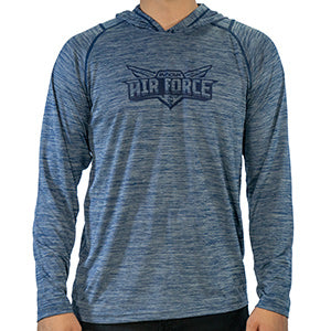 innova-air-force-hoodie-performance-jersey-disc-golf-apparel 2XL Heather Navy